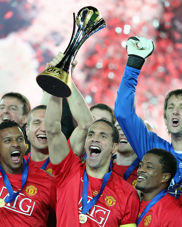 Talk about a banner year. Man. United capped off its magical '08 by winning FIFA's year-end championships between the champion clubs of the world with a 1-0 win over Ecuador's LDU de Quito, becoming the first English club ever to win the event. Seven months earlier, the Red Devils become the first English club to complete a Premier League and Champions League double since 1999, a feat they themselves were the last to achieve.