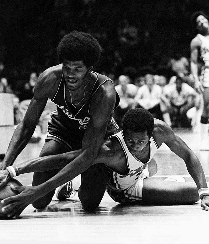 The Sixers cut large swaths of losses across the '72-73 season, notching losing streaks of 15, 20, 14, and 13 games. On the plus side, team MVP Fred Carter and his club also won two in a row and four of six during one remarkable February patch, en route to a 9-73 finish, which placed them 59 games behind the Eastern Division champion Celtics.