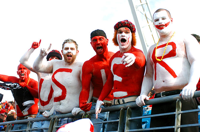 The mild Florida temperatures were no match for these corn-fed 'Husker fans.