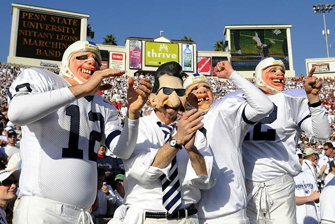Good to see these Penn State crowd staples made it all the way out to Pasadena for the Rose Bowl.