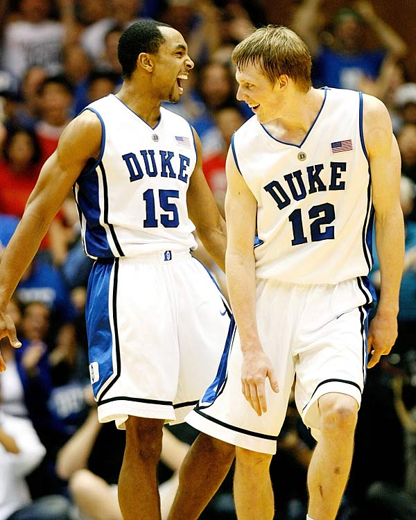 Wake Forest knocked off UNC to gain the No. 1 spot ... and then was defeated the next time the Demon Deacons set foot on the court.  After rising to No. 1 this week, Duke's Gerald Henderson (pictured with Kyle Singler) will have to rise to the occasion of stopping Jeff Teague and a team that is looking to grab that No. 1 ranking right back.
