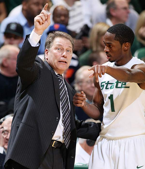 Michigan State looks to avoid another upset loss at the Breslin Center when a feisty Penn State team comes to town.  Kalin Lucas (pictured) is averaging 14.4 ppg for the Spartans.