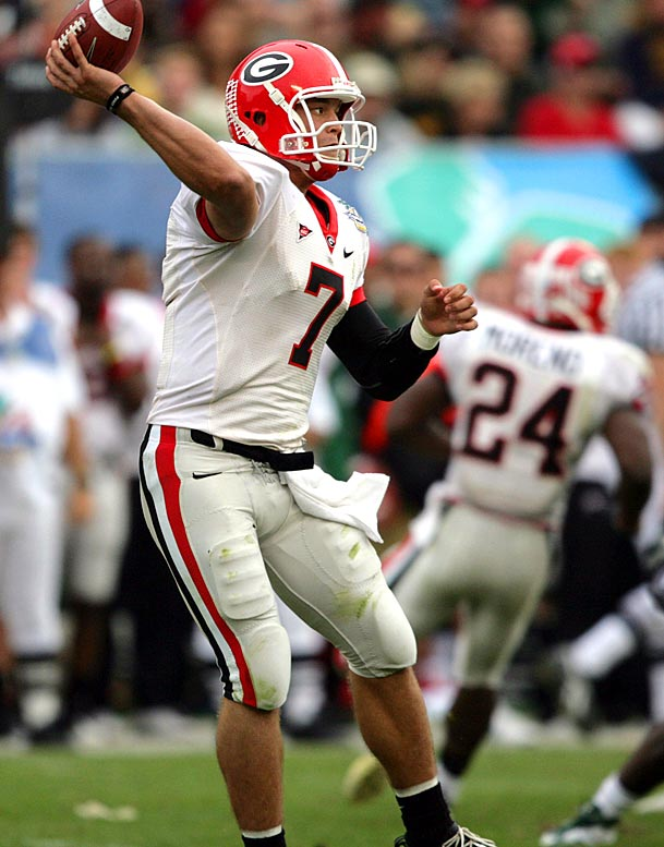 In what might have been his final college game, junior quarterback Matthew Stafford enjoyed a big second half and ended up with 250 yards passing and three touchdowns. The Dawgs defense held MSU star Javon Ringer in check, yielding just 47 yards on 20 carries.