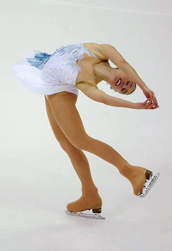 Alissa Czisny, seen here in the short program, won the women's title.