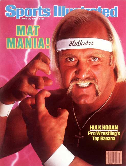 """Hulk Hogan beats The Iron Sheik to become World Wrestling Federation champion for the first time. The victory marked the start of the """"Rock 'n Wrestling"""" era."""