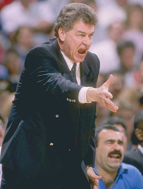 New Jersey's Chuck Daly becomes the 15th coach in NBA history to register 500 career victories, after the Nets defeated the visiting Los Angeles Lakers 106-91.