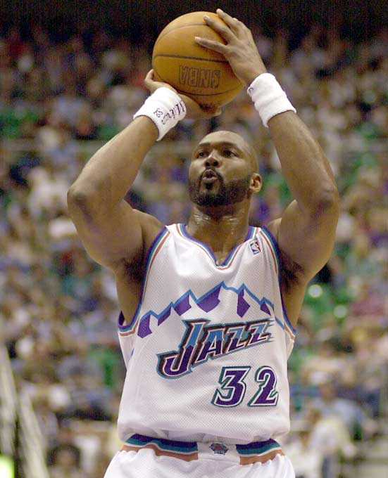 Utah's Karl Malone moves past former Boston great John Havlicek (26,395) and into eighth place on the NBA's all-time scoring list.