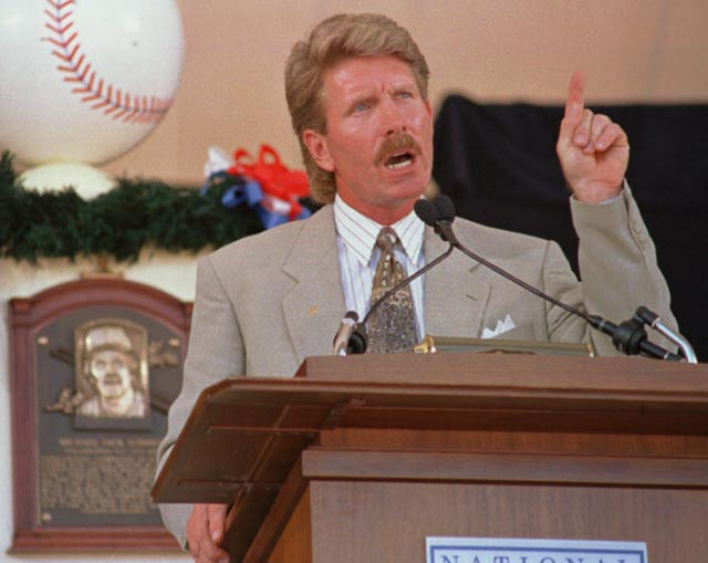 Mike Schmidt is elected to Baseball's Hall of Fame.