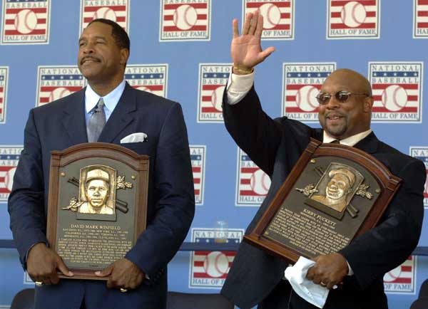 In their first year of eligibility, Dave Winfield and Kirby Puckett are elected to the Hall of Fame. The former Twins are the fourth pair of teammates selected by the BBWAA in the same year.