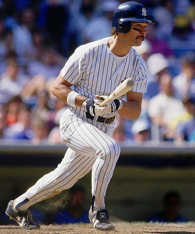"The face of the Yankees during the lean 1980s, ""Donnie Baseball"" was selected to six All-Star games, won nine Gold Gloves and the 1985 AL MVP. Mattingly finished his career with 2,153 hits, 222 home runs, 1,099 RBIs and a .307 lifetime average, but never played in a World Series."