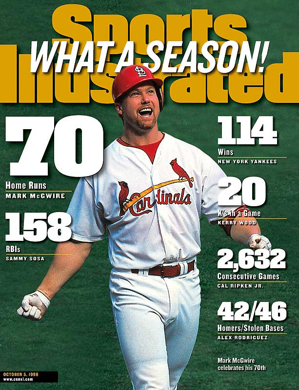 Dogged by allegations of steroid use since his retirement, McGwire was one of the most prolific home run hitters of all-time, averaging a home run every 10.61 at bats. McGwire holds the record for most homers by a rookie (49), and broke Roger Maris' single-season record with 70 homers in 1998.