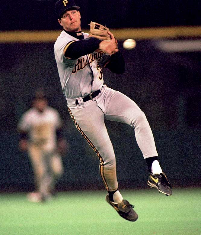 One of the game's best shortstops in the 1990s, Bell hit .265 with 195 homers, 868 RBIs and 1,123 runs scored in his career (1986-2003). He played for the Indians, Pirates, Royals, Diamondbacks and Mets, winning a Gold Glove and a Silver Slugger award with Pittsburgh in 1993 and a World Series ring with Arizona in 2001. His '93 Gold Glove snapped Ozzie Smith's string of 13 in a row.