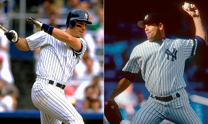 For 1996: <br>First baseman Tino Martinez and middle reliever Jeff Nelson are acquired from Seattle in a trade for pitcher Sterling Hitchcock and third base prospect Russ Davis. Pitcher Kenny Rogers is signed for four years at $19.5 million.