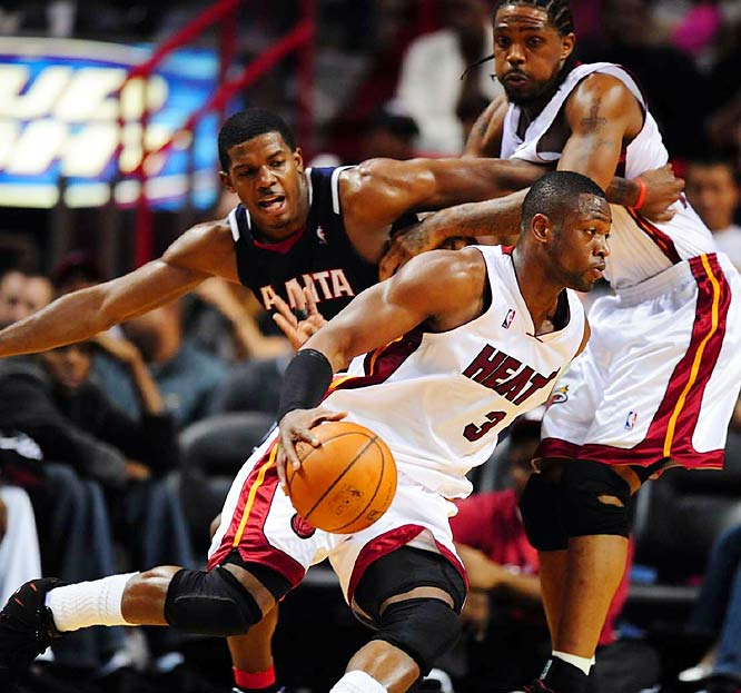 Dwyane Wade's resurgence, which began at the Beijing Olympics last summer, has gained even more momentum. After back-to-back injury-riddled seasons, Wade is playing better than ever in thrusting a thin, undersized Heat roster into the thick of the playoff race in the Eastern Conference. Like LeBron James, Wade has elevated his play on the defensive end to complement his vast offensive repertoire.