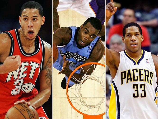 New Jersey's Devin Harris, Indiana's Danny Granger and Utah's Paul Millsap are among the up-and-coming players who are making a bid to become first-time All-Stars. Harris leads all point guards in scoring and has the Nets surprisingly in playoff contention. Granger hit the halfway point as the NBA's fourth-leading scorer. Millsap, a restricted free agent after the season, is averaging better than 17 points and 11 rebounds in games he's started in place of the injured Carlos Boozer.