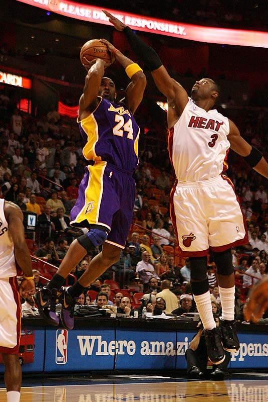 The teams played a dramatic game Dec. 19 in Miami when Kobe Bryant's potential game-tying jumper just before the buzzer rimmed in and out. Dwyane Wade scored 35 points and Kobe finished with 28, but the bigger story was the Heat's holding the Lakers to a season-low 87 points and forcing 21 turnovers.