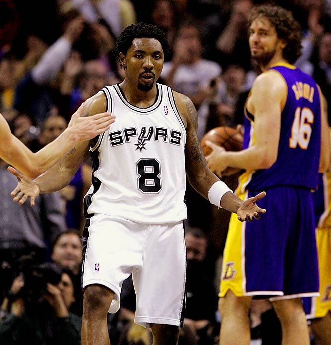 San Antonio won the first meeting of the season, 112-111 last week in San Antonio as Roger Mason had a go-ahead three-point play with 10 seconds left to punctuate his 18-point performance. The rematch starts a tough stretch for the Spurs, who then play at Utah and Phoenix, come home for New Orleans and then hit the road for five consecutive games before the All-Star break.