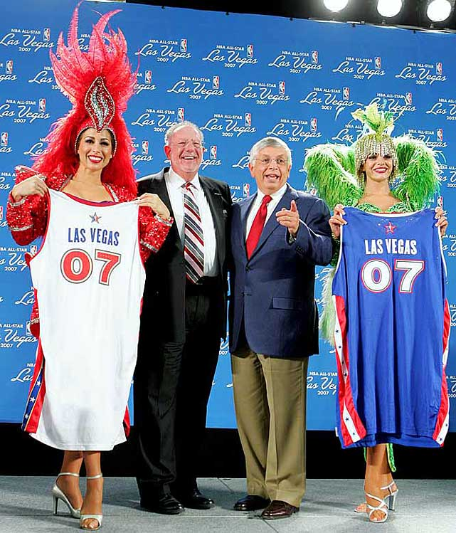 In February 2007, the NBA held its All-Star weekend in a neutral site for the first time and that site was ... Las Vegas! Some speculated that Stern's long-held resolve against sports gambling was thawing and that America's gambling capital could become home to an NBA franchise. The commissioner pointed out that betting on NBA games still would have to be dropped from the city's sports books. He added: ''I guess I would say that the NBA's position over the past 40 years or so has morphed with respect to gambling and betting.''