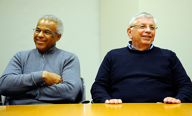 The second lockout on Stern's watch unfolded after the 2010-11 season, a five-month standoff between the owners and the players (led by Billy Hunter, pictured with Stern) as they clashed over how to split $4 billion annually. An agreement came together in late November 2011, setting up a shortened 66-game season that began on Christmas Day.