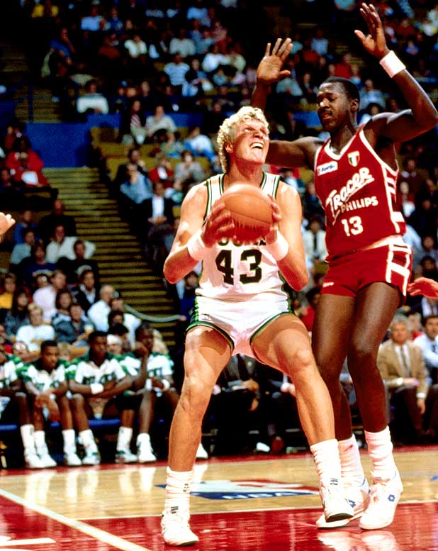 The first McDonald's Championship was played in Milwaukee in October 1987, featuring the Bucks (led by Jack Sikma, pictured), the Soviet Union national team and Italy's Tracer Milan club. It was the first tournament involving NBA teams and sanctioned by FIBA. With Stern pushing the NBA brand on an international scale, the Atlanta Hawks played in the Soviet Union in July 1988, and nine months later FIBA voted to allow NBA participation in the Olympics and the World Championships.