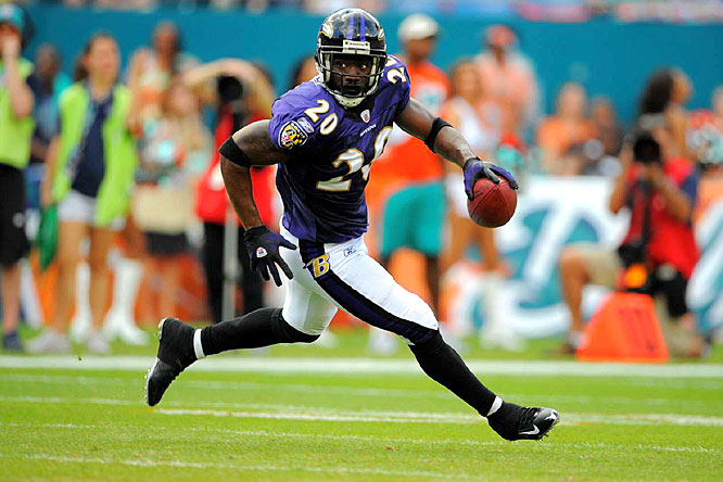 The Ravens came up with four interceptions, including one returned 64 yards for a touchdown by Ed Reed, and won 27-9 Sunday to spoil the Miami Dolphins' first playoff game in seven seasons.