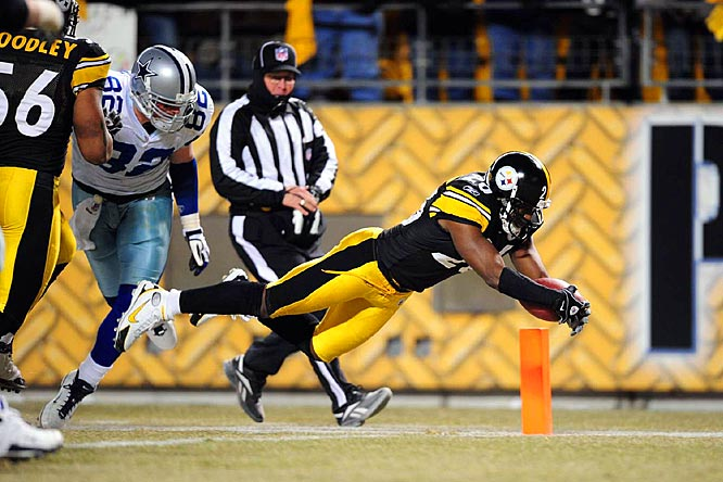 Pittsburgh stormed back from a 13-3 fourth-quarter deficit and scored 17 unanswered in the final 7:15 to beat the Cowboys 20-13. DeShea Townsend's 25-yard interception return for a touchdown with 1:40 left in the fourth quarter was the difference.