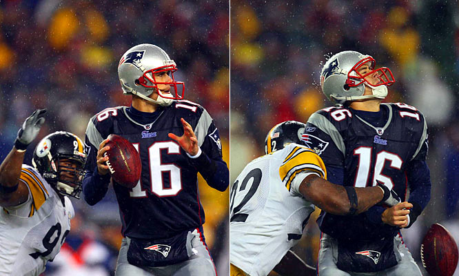 Down 10-3, the Steelers rallied with 30 unanswered points against the Patriots, marking the first time New England had allowed 30 straight points since their 2003 opener against the Bills. Pittsburgh notched five takeaways and five sacks, limiting Matt Cassel to just 169 yards on 19-of-39 passing in the 33-10 win.