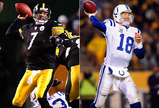 After a costly fourth-quarter interception by Roethlisberger, Peyton Manning tossed a 17-yard touchdown pass, sealing a 24-20 Colts win. The victory ended the Colts' 40-year losing streak in Pittsburgh.