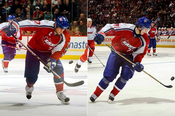 Alex Kovalev and Evgeni Malkin showed some impressive puck control in the game.