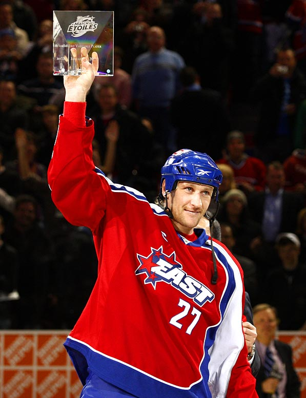 """You can't ask for a better package than this,"" said Kovalev, the East captain who had three points and skated off with MVP honors. ""Get voted in the All-Star game by the fans, starting lineup, being the captain, get MVP. This is something to remember the rest of your life."""