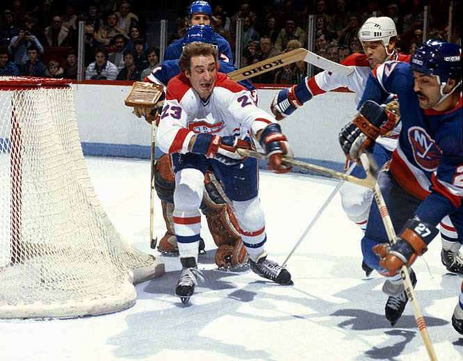 One of the league's finest two-way players, Gainey won the Selke Trophy as top defensive forward in each of the award's first four seasons.  A swift skater and tenacious worker, he was a career plus-196 and the winner of five Cups, including four straight from 1976-79 when he won the Smythe. Gainey also served as team captain for 569 games, the second-longest such stint after Jean Béliveau's (679).