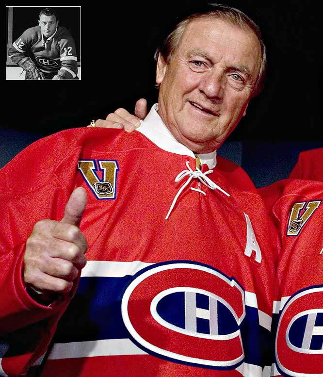 The Montreal native contributed to six Cups between 1951 and `63, won two Ross trophies and set an NHL record for most points in a playoff game (6) in a win over Boston on March 25, 1954 -- during a season in which he played in only 13 games because of a collarbone injury.