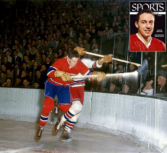 Considered the greatest Canadiens pivot, Béliveau served as captain for 10 of his 18 years in Montreal,  setting 14 team records and 11 playoff marks while winning 10 Cups. The two-time Hart Trophy-winner (MVP) was also the first winner of the Conn Smythe Trophy as Playoff MVP (1965).