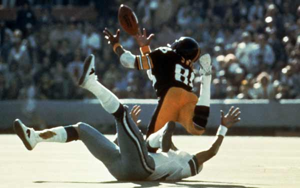 The Steelers returned to the Super Bowl the next season, where they defeated the Cowboys, 21-17. Lynn Swann was awarded the MVP after gaining 161 receiving yards with a touchdown. No catch was prettier than this diving grab over Dallas defender Mark Washington.