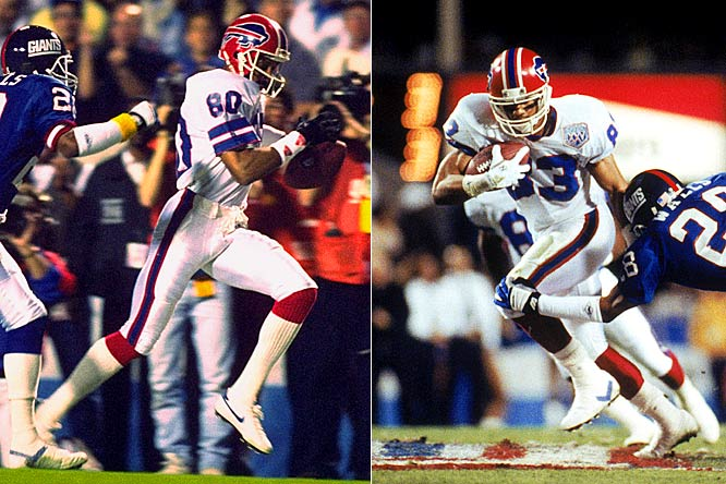 After playing in the playoffs just once in his first 11 NFL seasons, James Lofton joined Andre Reed in Buffalo for three Super Bowl appearances, giving Jim Kelly one of football's best wide receiver tandems. Unfortunately for Buffalo, although Reed and Lofton accounted for 401 receiving yards, neither made it into the end zone in the big game.