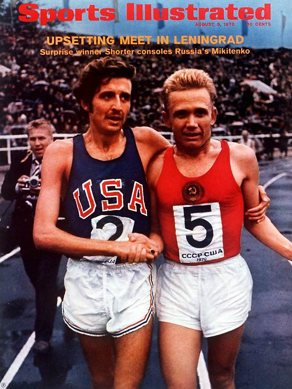A star distance runner at Yale, Frank Shorter notched one of the biggest upsets of the 1972 Olympics, stunning the Soviet Union's Leonid Mikitenko to win the marathon gold.