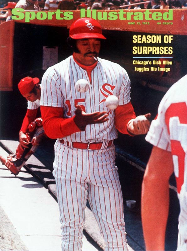 After wearing out his welcome in Philadelphia, St. Louis and Los Angeles, Dick Allen settled in with the White Sox in 1972. Under Chuck Tanner's low-key managerial style, Allen flourished, hitting 37 home runs, driving in 113 runs and leading the Sox to a surprise second-place finish in an MVP season. And as this photo indicates, he wasn't afraid to light up a mid-game cigarette either.