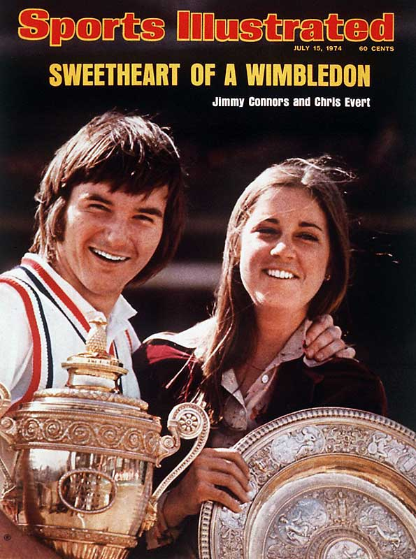 Four months before they were to be married, Jimmy Connors and Chris Evert won singles titles at Wimbledon. The pair went on to win 22 more grand slam titles, but the romance fizzled soon after this cover hit newsstands.