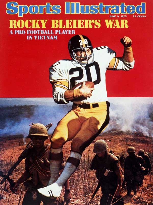 After a successful rookie season with the Steelers, Rocky Bleier was drafted into the U.S. Army and shipped out to Vietnam. As a member of the 196th Light Infantry Brigade, he earned a Purple Heart and a Bronze Star. After recovering from his injuries, he returned to the Steelers, playing for four Super Bowl-winning teams. SI chronicled his journey in the June 9, 1975, issue.