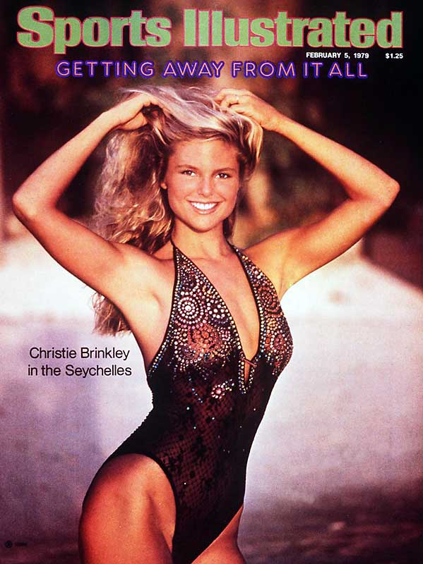 It's tough to pick just one swimsuit cover to represent an entire decade, but Christie Brinkley's 1979 cover from the Seychelles does a pretty good job.