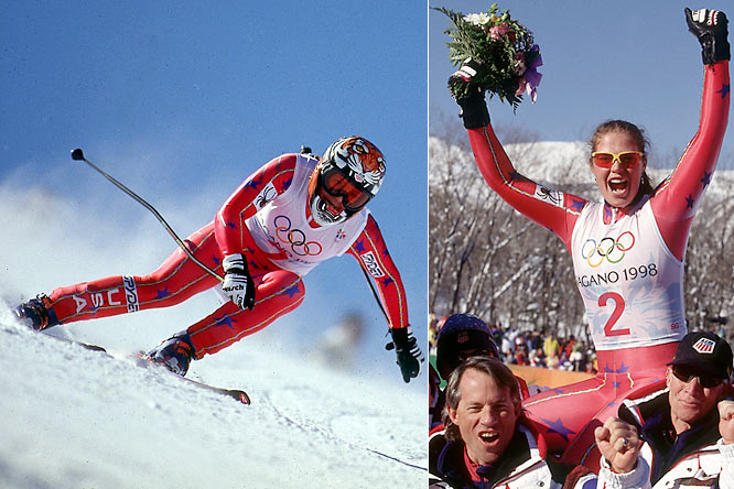 Joining the U.S. Ski Team in 1989 at 17, Picabo won two Olympic medals, including gold in the Super-G ('98) and silver in the downhill ('94).  She also won three world championship medals: a silver in combined ('93), bronze in Super-G ('96) and gold in downhill ('96), the latter making her the first American to win a title in a speed event. After suffering a broken femur and torn ACL in her right knee during a crash after the '98 Games, Street spent two and a half years recovering before returning to competition. She retired in 2002.  Worthy of consideration: Andrea Lloyd-Curry.