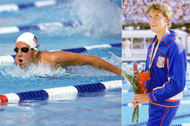 Known for her versatility, Caulkins set five world and 63 American records during an accomplished career. She earned three gold medals at the '84 Olympics while competing in the 200-meter and 400-meter medleys and 4x100 medley relay.  Worthy of consideration: Patty Berg, Cindy Nelson, Briana Scurry and Lindsey Vonn.