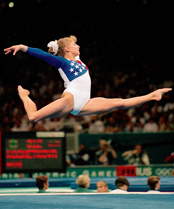 The most decorated gymnast -- male or female -- in U.S. history, Miller won five medals in 1992: bronze medals in the team competition, uneven bars and floor exercise, and silver medals in the all-around and balance beam. At the 1996 Atlanta Games she was one of the gold-medal winning Magnificent Seven. Despite wrist and hamstring injuries, she also won an individual gold in the balance beam, the first for a female American gymnast at a non-boycotted Olympics.  Worthy of consideration: Amy Alcott, Candice Parker, Judy Rankin and Helen Stephens.