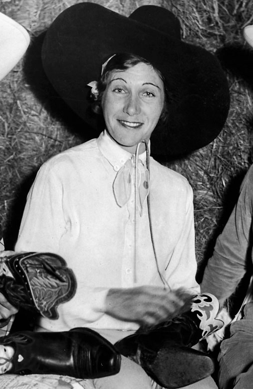 The nation's first rodeo queen won three national titles in the 1930s and '40s and was the first inductee into the Cowgirl Hall of Fame in '75. She was enshrined in the National Cowboy Hall of Fame eight years later.   Worthy of consideration: Shannon Cate, Alice Ritzman and Val Skinner.