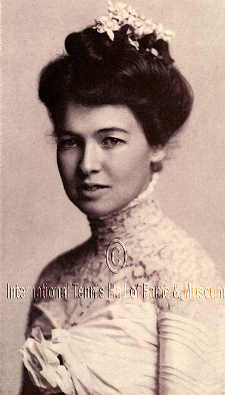 Farquhar was the first woman to compete in Wimbledon, entering the tournament in 1900 and advancing to the quarterfinals. She won the singles title at the U.S. Championships in 1899 and 1902, and was inducted into the USTA Hall of Fame (1968) and  International Tennis Hall of Fame (2006).  Worthy of consideration: Sheila Tarr-Smith.