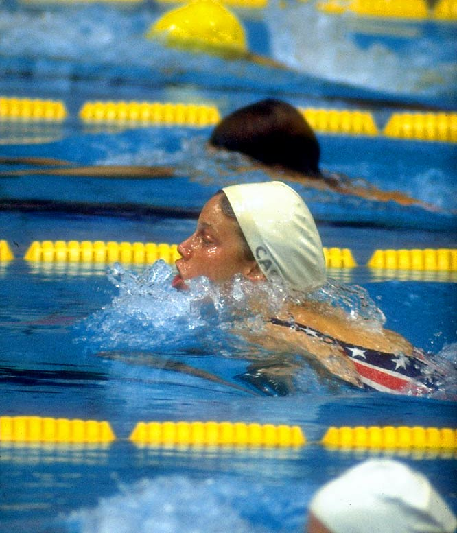 In the '72 Munich Olympics that were supposed to be dominated by Russian superstar Galina Prozumenshikova, Carr took gold in the 100-meter breaststroke and 4x100-meter medley relay, breaking the world record in both. She was inducted into the International Swimming Hall of Fame in 1998.