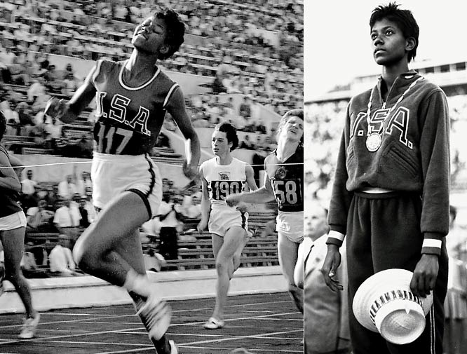 Dubbed the ''fastest woman on earth,'' Rudolph was a pioneer in elevating the status of women's track and field in America. She was a multi-sport phenom (basketball and track); the first American woman to win three gold medals at the Olympics (she won the 100- and 200-meter dashes and was a part of the U.S. 400-meter relay team in 1960); a world record-holder in two events (200-meter and with the relay team); and she accomplished all of it after overcoming polio as a child.  Worthy of consideration: Kristin Armstrong, Nikki McCray and Nera White.