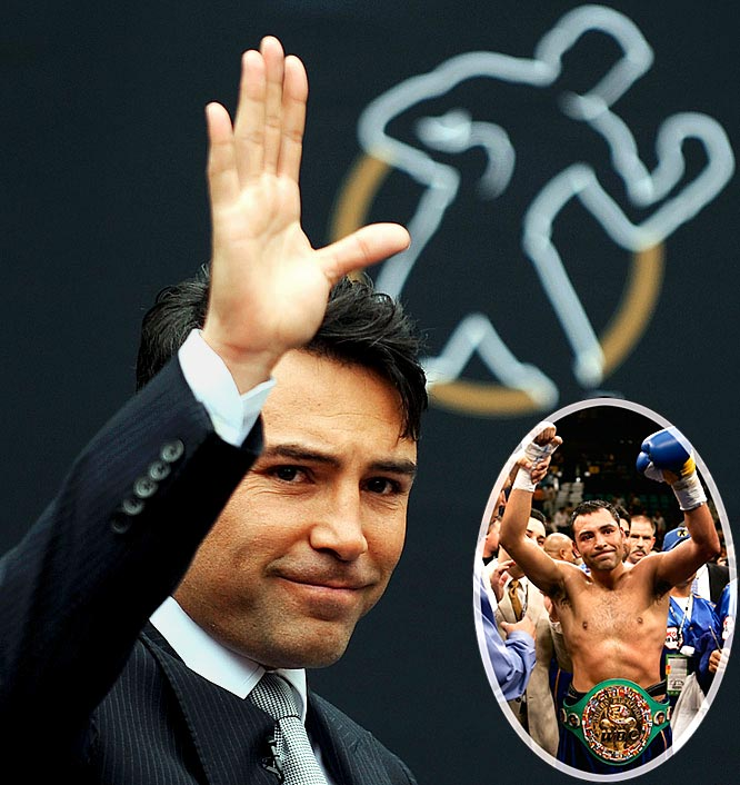 Boxing's ''Golden Boy'' burst onto the world stage in 1992, winning a gold medal at Barcelona. Over the next 16 years, he amassed a 39-6 record, winning 30 of the bouts by knockout. After defeating Lamar Williams by KO in the first round of his pro debut, De La Hoya went on to defeat Pernell Whitaker, Julio Cesar Chavez and, in perhaps his biggest victory, Fernando Vargas -- who tested positive for steroids after the bout. De La Hoya had 19 HBO bouts, and closes his career with records in career pay-per-view buys (14.1 million) and total revenue ($696 million).
