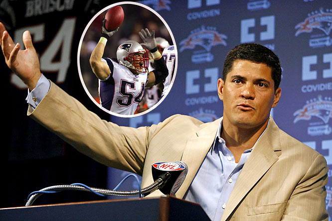 Picked in the third round of the 1996 NFL Draft, Bruschi retired after 13 seasons with the New England Patriots. He made an immediate impact on both defense and special teams for the Super Bowl-bound Patriots. He totaled a career-best 138 tackles in 2000, and was eventually named New England's defensive captain (a distinction he held for seven seasons). A three-time Super Bowl winner, Bruschi suffered a mild stroke just weeks after the Patriots defeated the Eagles to win Super Bowl XXIX -- and only days after he played in the Pro Bowl. Bruschi suffered partial paralysis and announced he'd sit out the 2005 season. Just months later, however, he returned to action, earning NFL Comeback Player of the Year honors. For his career, Bruschi tallied 30.5 sacks, 735 tackles and 12 interceptions, four of which he returned for touchdowns.
