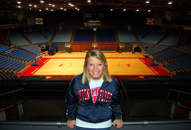 "Meet Keri, a University of Dayton junior and proud Flyers cheerleader. Keri, a huge fan of ""The Office"" and authentic Mexican food, has taken her lumps on the court."